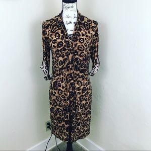 INC International Concepts Dresses - INC front ruched Leopard 🐆 Shirt Dress